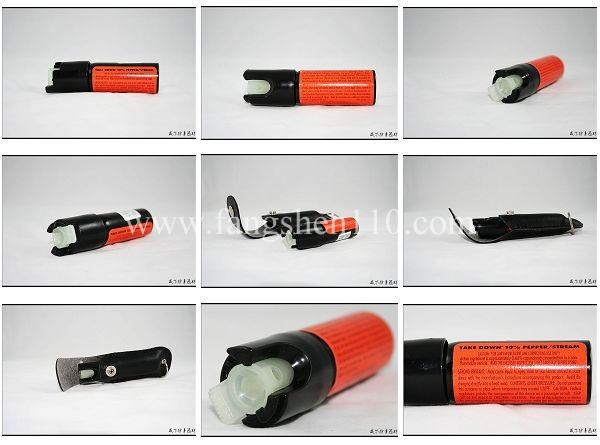 美国梅西Mace夜光皮套射流型防身辣椒喷雾